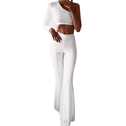 081fc3a4c5c3 TUDUZ Damen Yoga Hose mit hoher Taille mit ausgestelltem Bein, Sporthose,  Bootcut Jogginghose für