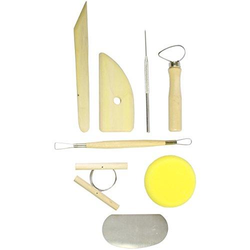 Paquete de 8 herramientas de orfebrería en madera con esponja incluída por Curtzy TM
