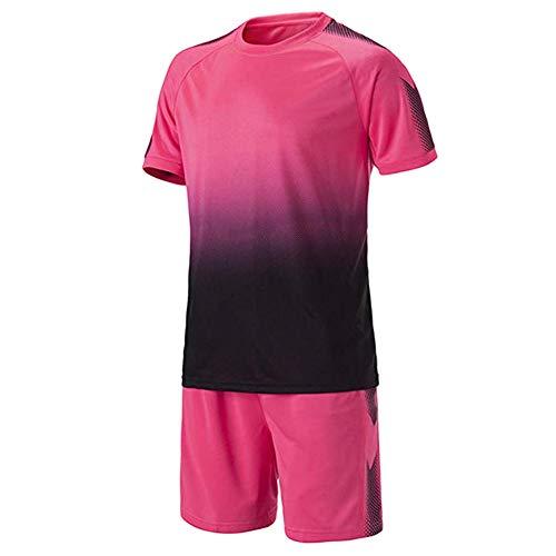 Meijunter Fußball Training Suit - Jugend Kinder Erwachsene Soccer Jerseys Sportbekleidung Hemden + Shorts Set Wettbewerb Uniforms Tracksuits