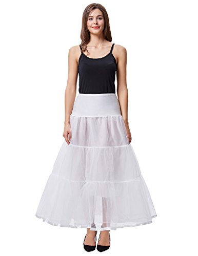 Jack Smith 50er Jahre Unterrock Reifrock Petticoat Lang M CL010421-2 (Stil Meerjungfrau Brautkleid)