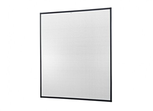 Insektenschutz Fenster Basic 120 x 140 cm mit Alurahmen in Weiß, Braun und Anthrazit, Fliegengitter als Bausatz, auf Maß geschnitten oder komplett aufgebaut