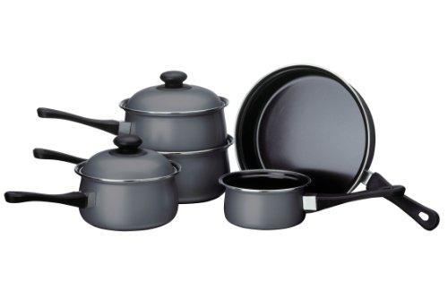 Premier Housewares Batería de Cocina, Acero de Carbono, Gris, Centimeters