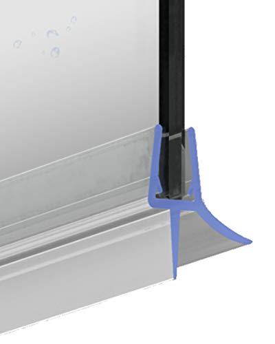 Duschdichtung Ersatzdichtung 100 cm für 5-6 mm Glasstärke Dichtprofil Schwallschutz Wasserabweiser Transparent