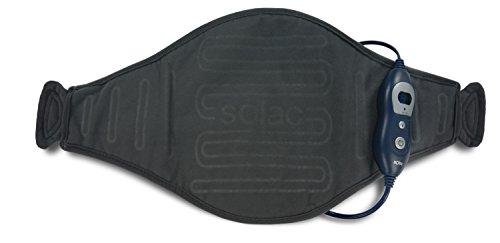 Solac CT8680 - Almohadilla terapéutica Helsinki Lumbar, 100 W, 6 niveles de temperatura, Tecnología Sensfort, autoapagado, conector extraíble, color azul oscuro