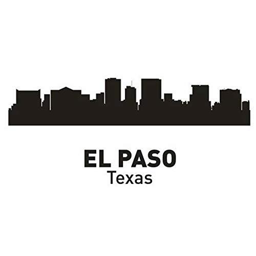 Wandaufkleber Schlafzimmer El Paso City Decal Landmark Skyline Sketch Decals Poster Parede Home Decor for living room bedroom