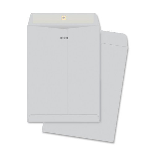 Quality Park Clasp Envelopes, 10 x 13 inches, Executive Gray, Box of 100 (38597) by Quality Park -