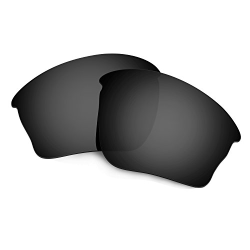 HKUCO Mens Replacement Lenses For Oakley Half jacket XLJ Sunglasses Black Polarized