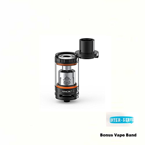 ORIGINAL SMOK TFV8 BABY TANK THE BABY BEAST 2mL Sub Ohm Tank (BLACK) GENUINE with Extra Vape Band