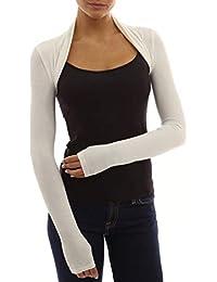 b4b7112799 Red Olives® Womens Plain Long Sleeve Bolero Shrug Crop Top Ladies Cropped Cardigan  Tops UK
