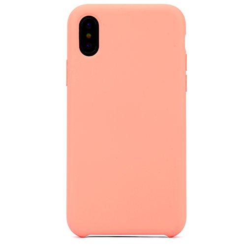 Arktis iPhone X Silikon Schutzhülle Case Hülle - Weiß Flamingo