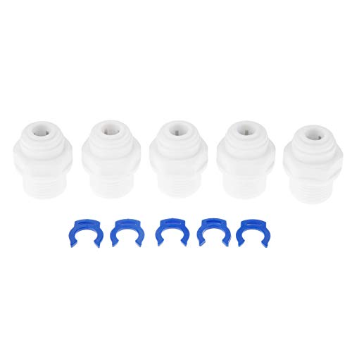 Male Water (5 pcs RO Water Straight Pipe Fitting 3/8