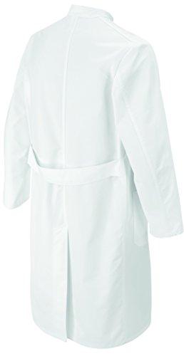 clinicfashion Herren Visitenmantel Mantel weiß, Stehkragen, Normal- und Langgröße, Baumwolle, Größe 44-64 Weiß