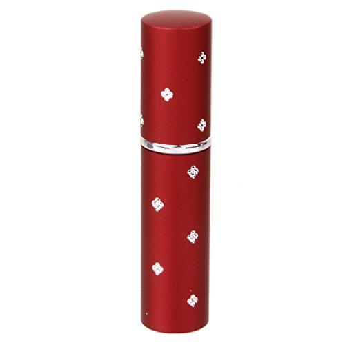 Mini Atomiseur de Parfum Vaporisateur Rechargeable Bouteille Vide en Alliage 6ml pour Voyage - Rouge