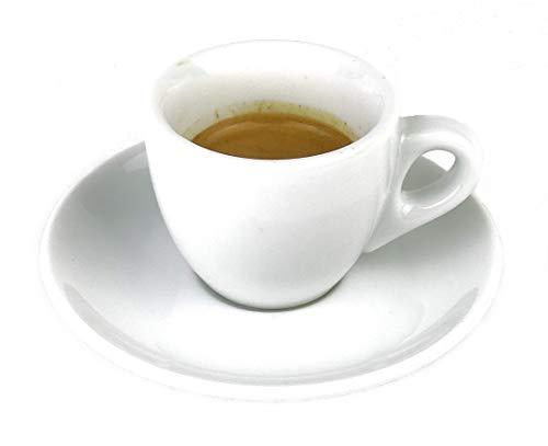 Extra dickwandige italienische Espressotasse »Verona« (0,85 cm Tassenwand / 75 ml), handgemacht (1 Tasse & Untertasse) / Made in Italy - 5