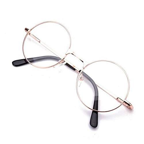 EgBert Runde Metallrahmen Presbyopie Beste Lesebrille Eyeglassess Ermüdung Entlasten - Gold - 1.0