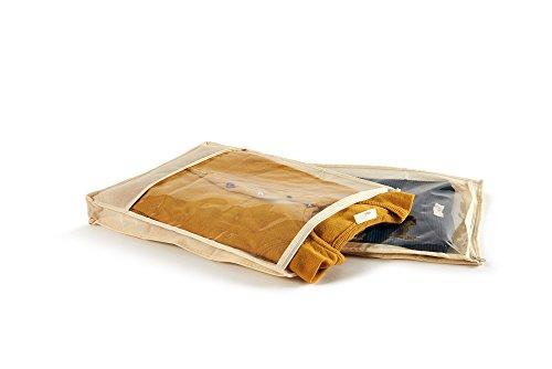 Perfetto più Easybag Sack Tasche Vliesstoff für Hemden und Pullover, Stoff, Ecru, 33x 45x 5cm