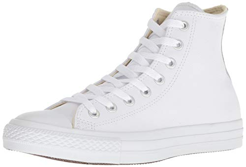Converse All Star Hi Leather, Sneaker Unisex – Adulto, Bianco, 39 EU