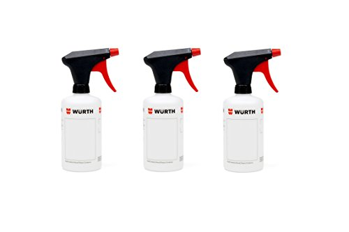3x Würth Universell einsetzbare Pump- Sprühflasche mit Skalierung 500ml