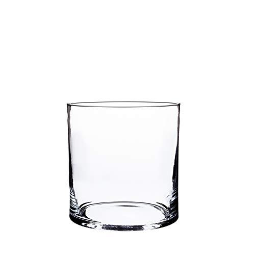 Jarrón cilíndrico de cristal SANSA