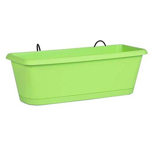 Jardinière Chorus 50 vert - 48.8 x 18.8 x 16.1 cm - 9.45L (plateau+support) - EDA Plastique