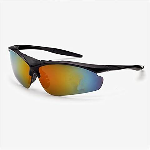 O-C Unisex's outdoor sport cycling driving fishing aviator half frame sunglasses 75mm width