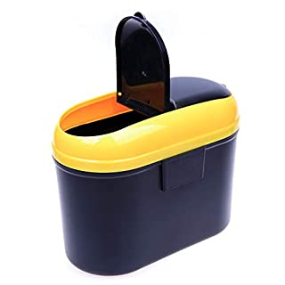 JenNiFer Hanging Style Auto Mülleimer Multifunktions Rubish Mülleimer Vorratsbehälter - Gelb