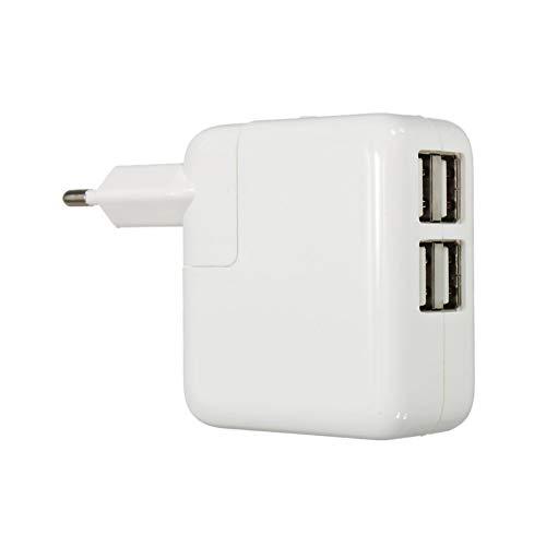 Travel Size EU 4 Port USB Ladegerät tragbare Reise Ladegerät DC 5.1V Universal Power Adapter Konverter Kompatibel mit Handy Tablette Weiß EU Norm Stecker Homedekor -