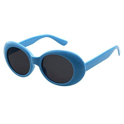 SANFASHION Retro Vintage Clut Brille Brille Unisex Rapper Oval Shades Grunge Sonnenbrille (M)