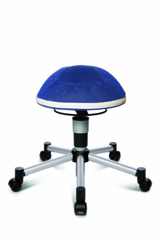 TOPSTAR Drehhocker Sitness Junior Half Ball, blau - 2