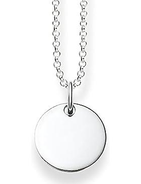 Thomas Sabo Damen-Halskette Love Bridge 925 Sterling Silber Länge 40 bis 45 cm LBKE0002-001-12-L45v
