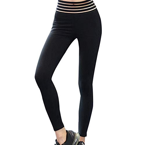 (Yvelands Damen Hohe Elastizität Hohe Taille Leggings Gym Aktive Gefaltete Hosen)