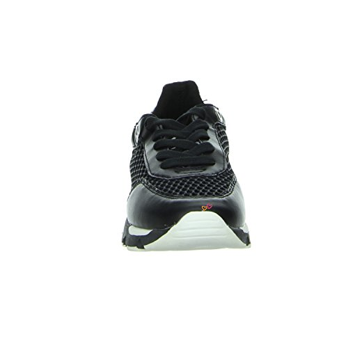 Bullboxer Sommer-Sneaker in schwarz weiß Leder Scharz-Weiss