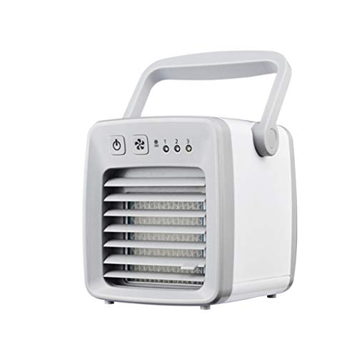 Ventilador De Aire Acondicionado PortáTil, Enfriador De Aire, USB, 3 Pasos Ajustables,...