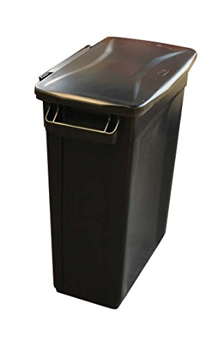 slim-jim-recycling-container-rectangular-plastic-60-litre-base-black-with-hinged-black-lid-by-chabri