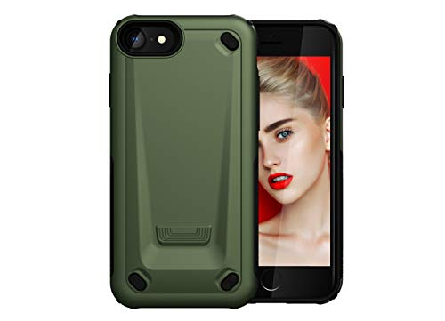 Jeack kompatibel iPhone6s Hülle, Ultra Hard PC + Soft Silikon [2 in 1] Case Protective Schutzhülle Stoßfest Cover Bumper Schutzhülle für iPhone6 (iPhone6, Armee grün) (Iphone6 Arm)