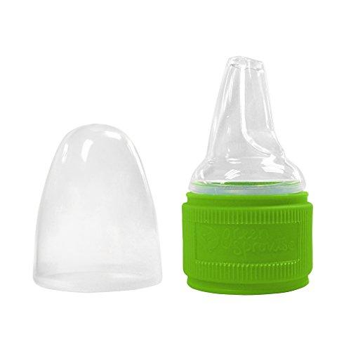 Green Sprout Toddler Water Bottle Cap Adapter (Green, 9+ Months )