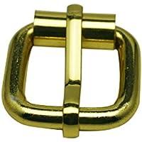 Tianbang Golden rettangolo fibbia con barra di scorrimento 2x 1,8cm inside Dimensions for Belt Handbag strap Keeper Accessories Pack of 6