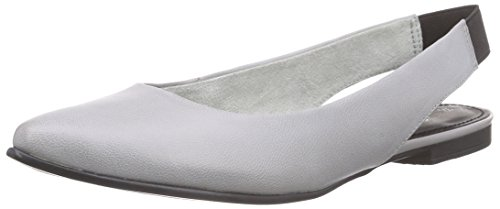 s.Oliver 29400, Damen Slingback Ballerinas, Grau (CLOUD 809), 37 EU (4 Damen UK)