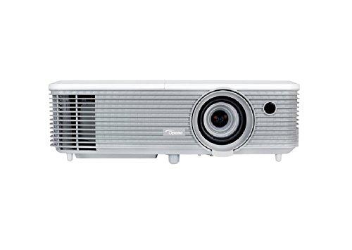 Optoma W400 DLP-Projektor (1080p Beamer, 1920 x 1080 Pixel, 4000 ANSI Lumen, Kontrast 22.000:1, Full HD, HDMI, VGA, 1,1x Zoom) weiß