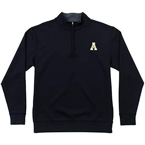 Oxford NCAA Herren Riverside Pullover, 1/4-Reißverschluss, Herren, Men's Riverside 1/4 Zip Pullover, schwarz, Small