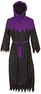 WIDMANN- Guerrero Túnica con capucha y una máscara de la cara invisible, Color negro, M (00102)