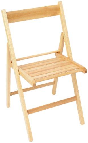 Sedia pieghevole in legno Arno naturale