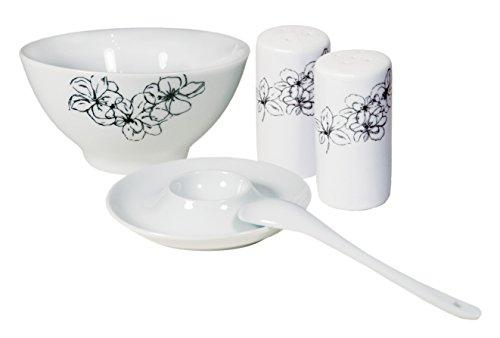 Frühstücksservice TOSCA, 20-teilig, Porzellan, schwarz, design I love® Arte-dekor