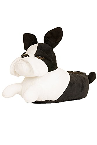 LD Outlet Chaussons en peluche Unisexe French Bulldog