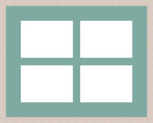 Foto Rahmen mit 4Leerzeichen für Fotos 10x 15cm creme, Nil vert, 4 - 18x13