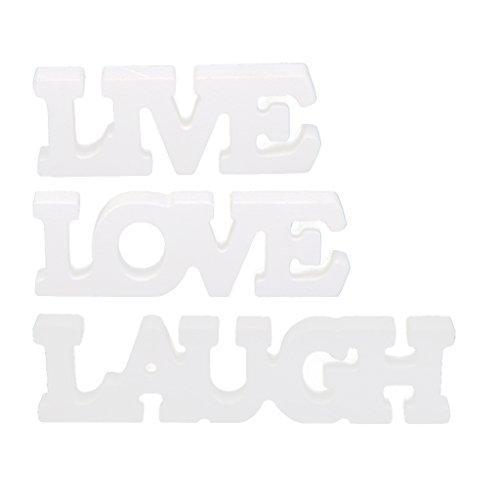 """""""Live Laugh Love"""" Holz Schriftzug Holzbuchstaben Buchstabe Tischdekoration"""