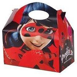 Ladybug - Cajita de carton para rellenar con decoraciones de lady bug, paquete de 12 cajitas