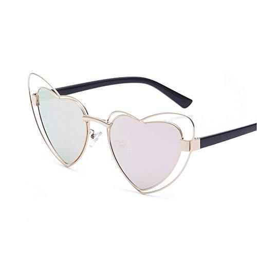 WYJW Mode niedlich Retro Liebe Herz metallrahmen Sonnenbrille Frauen mädchen Mode Retro cateye kostüm Party 400 uv