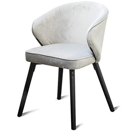 ZY Dining chair Amerikanischer Massivholz-Esszimmerstuhl, Schalenstuhl/Sessel/Kaffeestuhl, Samtgewebe + Schwamm mit hoher Ausfallsicherheit, ergonomisches Design, für Restaurant/Büro/Tresen/Familie -
