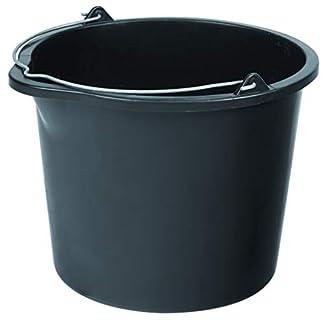 Cubo de albañilería de 12 litros con boquilla vertedora